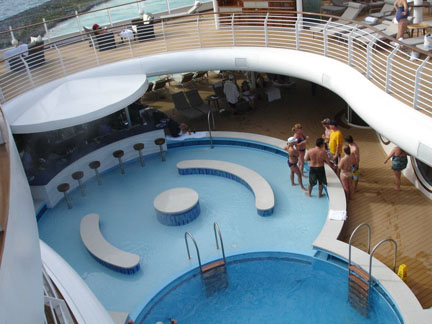 Disney Fantasy S Adult Only Quiet Cove Pool And Cove Bar