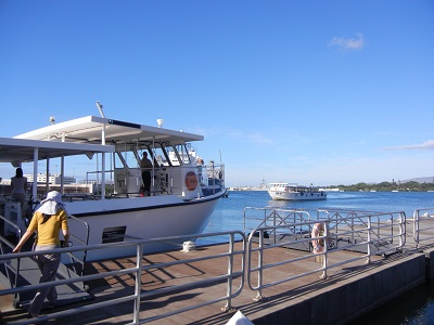Boat out to USS Arizona