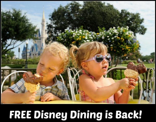 Free Dining At Walt Disney World Available Now