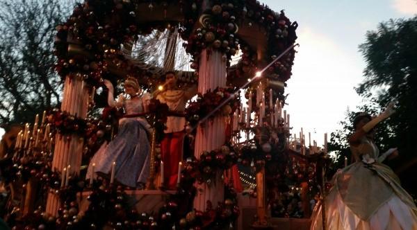 A parade float
