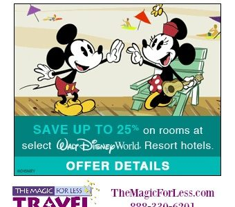 Walt Disney World Spring Discount Soak Up the Sun & Save up to 25%