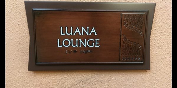 Luana Lounge at Aulani (a great place to get ready for your flight home)
