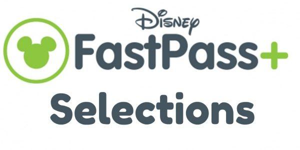 Walt Disney World Theme Park FastPass+ Selections