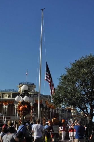 Happy Memorial Day!  Flag Retreat at The Magic Kingdom