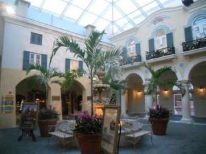 Lobby area of Loews Portofino Bay Hotel