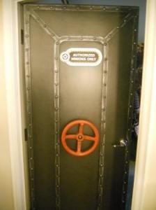 Door from Adult room into Kid Suite