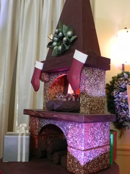 A chocolate fireplace!