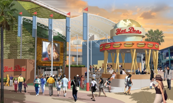 Hot Dog Hall of Fame at CityWalk - Rendering