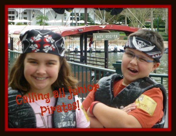 Avast, ye mateys!  Calling all junior Disney pirates!