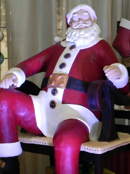 Santa made out of chocolate!