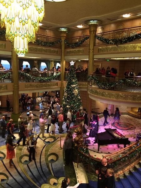 DCL Fantasy Atrium at Christmas