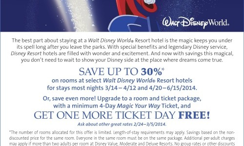 Save up to 30% on Travel This Spring With This Walt Disney World Vacation Discount!