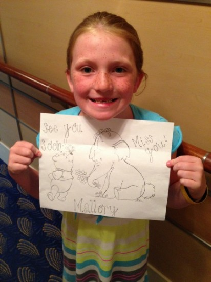 Paula left Mallory with a sweet, personalized memory!
