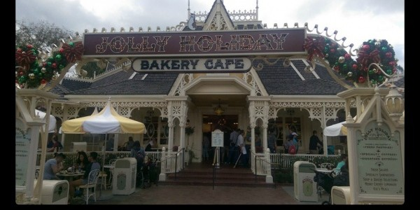 Getting a sweet treat at Jolly Holiday Bakery