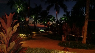 Night walk is as beautiful as the resort
