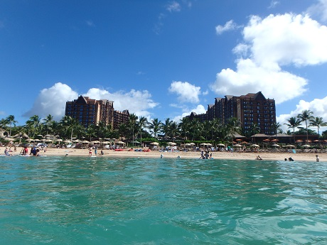 Aulani from the lagoon