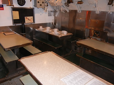 Submarine dining room