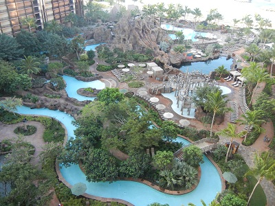 Lazy river and Waikolohe pool