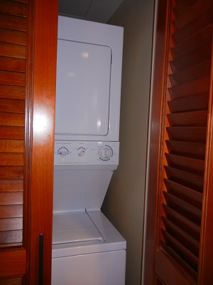 Washer-dryer in most villas