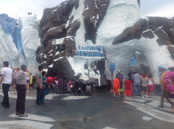 Entrance to this new and very popular ride