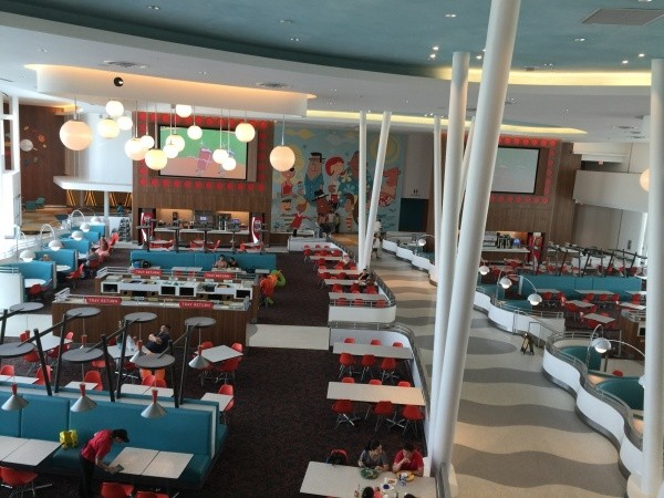 Eat in the retro style Food Court
