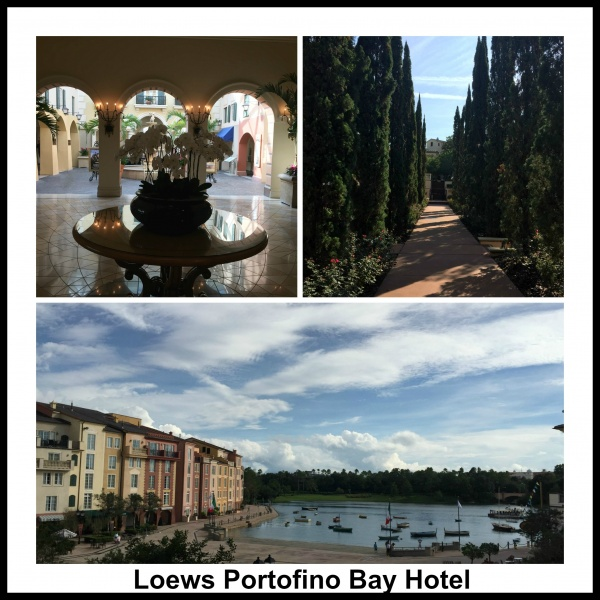 The lovely Portofino Bay Hotel