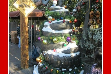 Christmas Trees of Disneyland's Cars Land