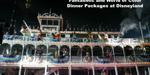 Fantasmic and World of Color Dinner Packages at Disneyland