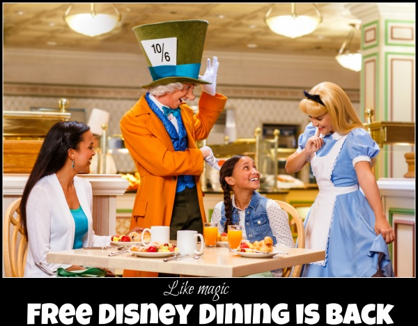 Walt Disney World 2016 FREE Dining  – Available Now