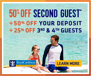 Royal Caribbean July Buy one Get One 50% OFF Discount