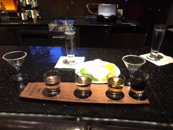 A tequila setup
