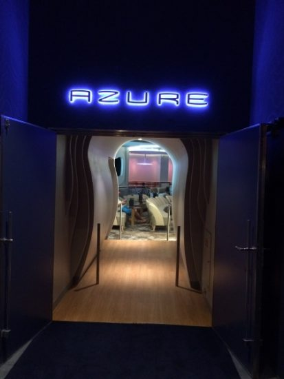Plan on hanging out a while at Azure on the Disney Wonder!
