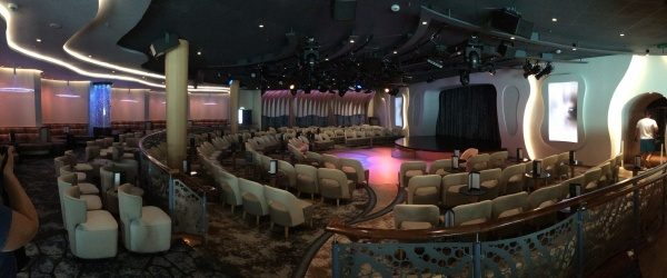 Entertainment for adults in Azure later in the evening on the Disney Wonder