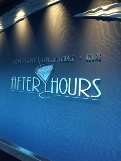 After hours clubs on the Disney Wonder