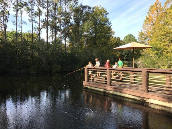 Fishing at Port Orleans Riverside Resort