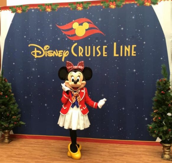 Character Meet and Greet before boarding the Disney Magic