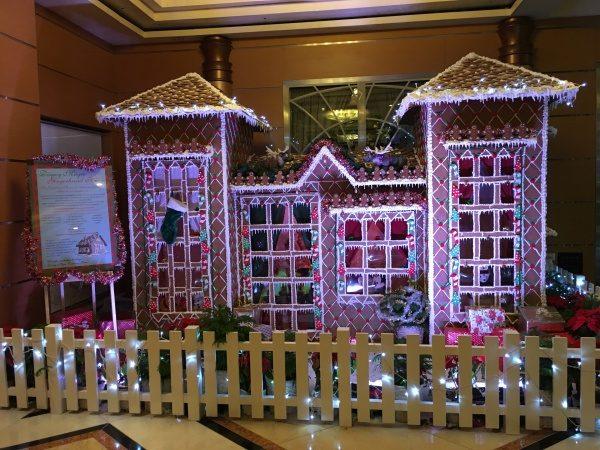 Gingerbread House In Atrium