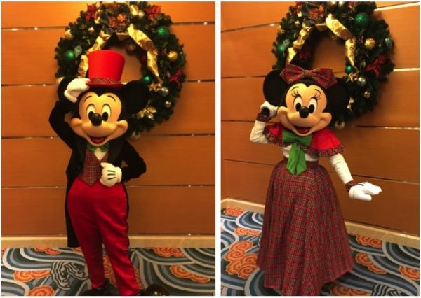 On the Very Merrytime Cruise, meet your favorite Disney Character in their finest holiday attire. Mickey and Minnie looking fabulous. 'Tis the season!