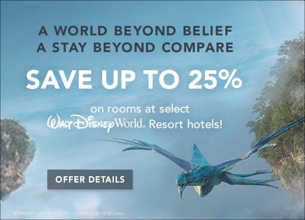 2017 summer Walt Disney World discount Pandora Avatar