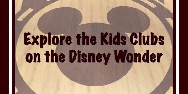 Explore the Kids Clubs on the Disney Wonder