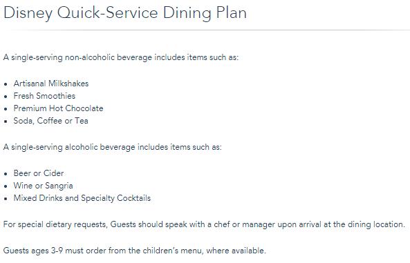 <em>Dining Plan beverage enhancements for 2018.</em>