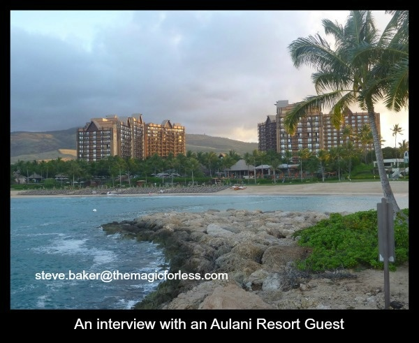 Aulani Interview with a Guest of The Magic For Less Travel