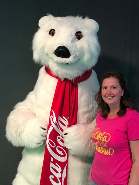 Meeting the Polar Bear at the Coca Cola Store