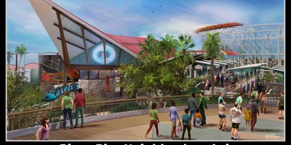 Pixar Pier Neighborhoods in Disney California Adventure Park