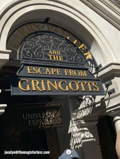 Escape From Gringotts Bank