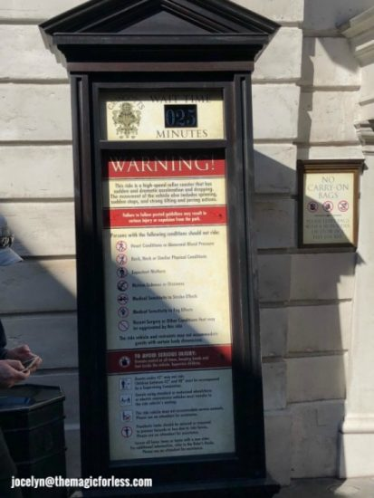 Escape From Gringotts Bank Warnings