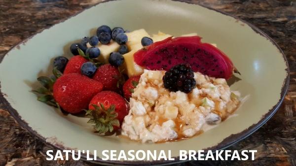 Healthy breakfast option at Satu'li