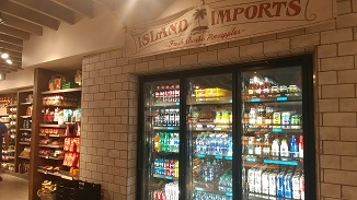 Some food options at Calypso Trading Post