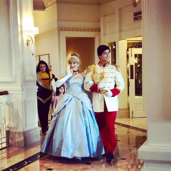 Cinderella & Prince Charming in the lobby!