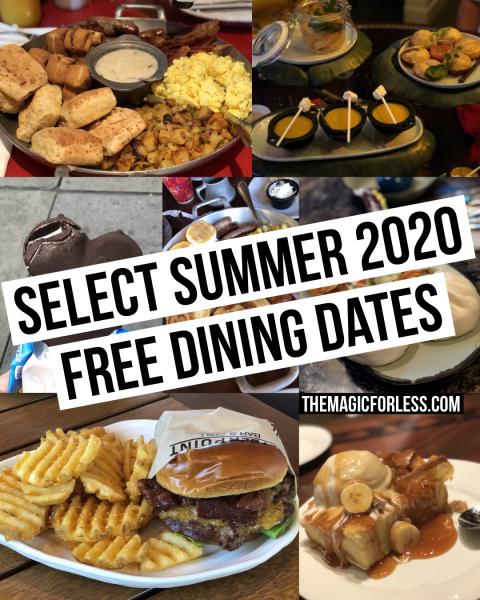 New Free Dining Offer for Walt Disney World Summer 2020